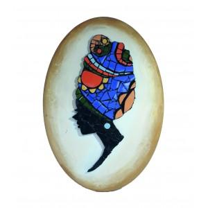 Dekoratif Pano 15 - Seramik Mozaik Afrika Kadın
