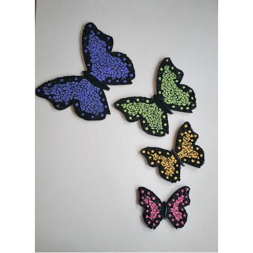 Mozaik 4'lü Kelebekler