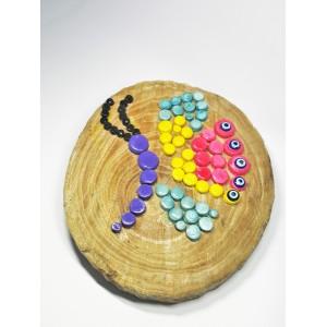 Dekoratif Ahşap Kütük Kelebek Pano