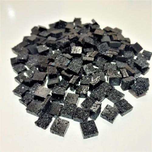 Mozaik Yapay Taşı Siyah -ölçü(0,8x0,8x2,5mm)
