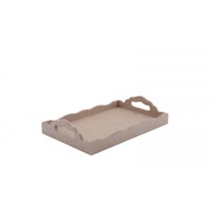 Ahşap Tepsi 01-Mdf- Boyanabilir-Ölçü (20x30x2.5 cm)
