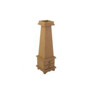 Ahşap Mumluk - Mdf-Çekmeceli- Ölçü(11x11x39)cm