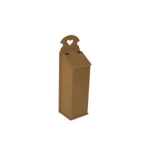 Ahşap Poşetlik Kutusu -Mdf- Ebatları  ( 18x16x52 cm)