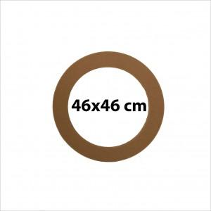 Ahşap Yuvarlak Ayna Çerçevesi 08 -Mdf- Ölçü(46x46cm)