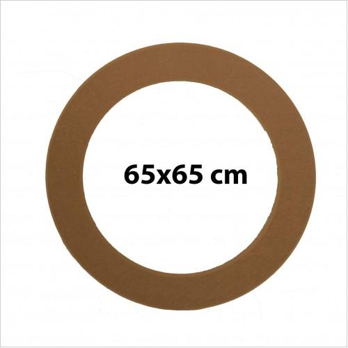 Ahşap Yuvarlak Ayna Çerçevesi 09 -Mdf- Ölçü(65x65cm)