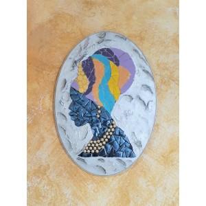 Dekoratif Pano 18 -Seramik Mozaik Afrika Kadın