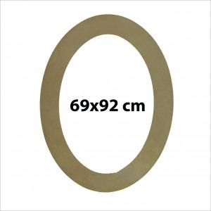 Ahşap Oval Aynalık